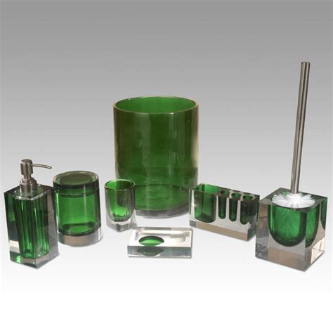 Green bathroom accessories green bathroom pinterest
