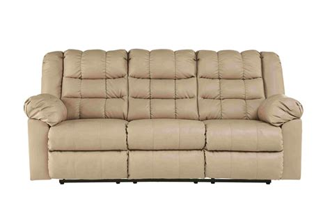 Durablend Reclining Sofa by Reclining Sofas Brolayne Durablend Beige Reclining Sofa