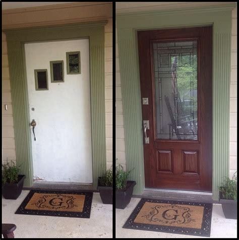 front door before and after front door makeover before after decorating ideas