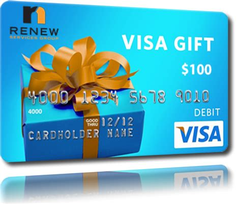 Visa Gift Card Name On Card - want to earn 100 renew services