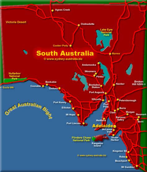 south australia map state of south australia map