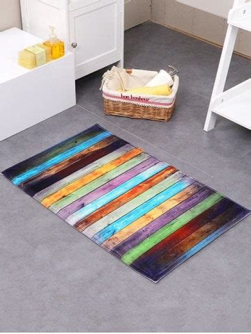 Colorful Bath Rugs by Colorful 50 80cm Colorful Stripe Antislip Floor Bathroom