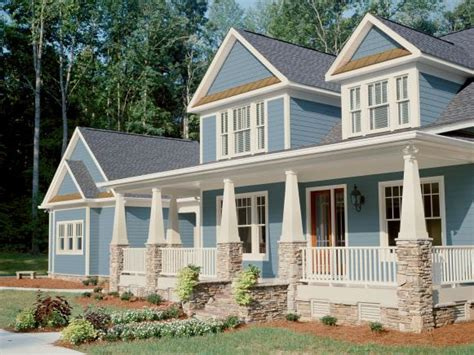 blue craftsman house curb appeal tips for craftsman style homes hgtv