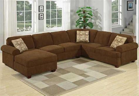 Sofa Sudut Coklat model kursi sofa u untuk ruang tamu kecil sederhana
