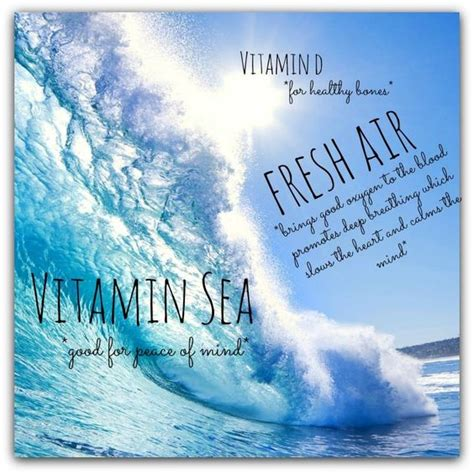 Vitamin Sea all i need is vitamin sea fresh air quote sea white sand salt