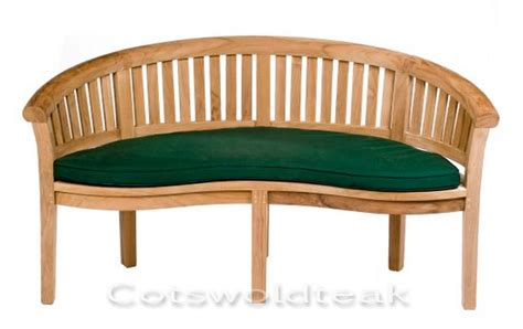 curved garden bench cover teak curved banana bench crummock