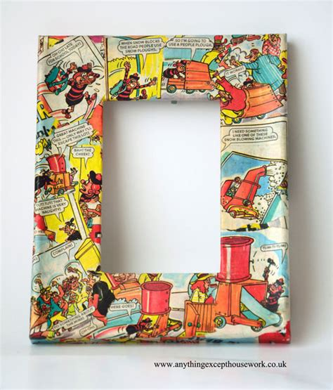Decoupage Frame - decoupage picture frames using comics