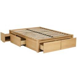 amazing Platform Bed Designs With Storage #2: solid-wood-queen-size-platform-bed-frame-with-storage-drawers.jpg