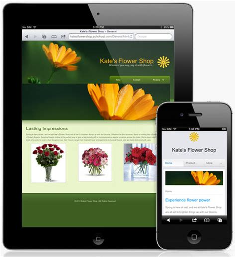 layout web mobile zoho sites a simple and effective hosted website content