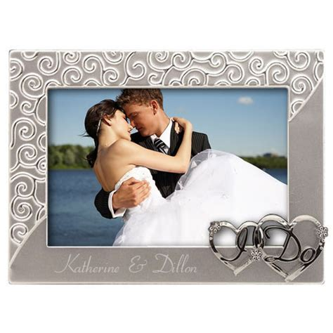 Silver I Do Wedding Picture Frame