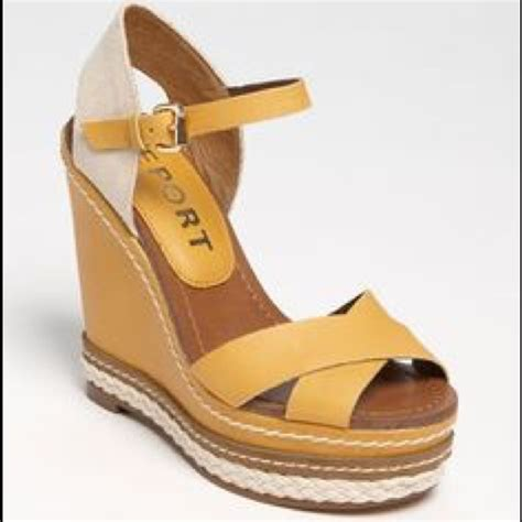 63 report shoes report shoes mustard wedges from