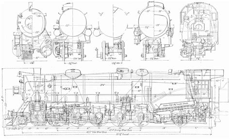 blueprint drawing free free steam locomotive drawings