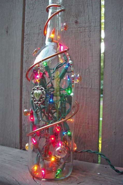 wine bottles decorated with glass recycled lighted bottle with decorations how to make