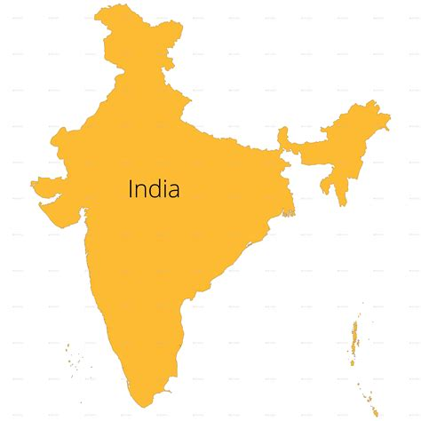 India Outline Map Coloured by India States Map And Outline By Vzan2012 Graphicriver
