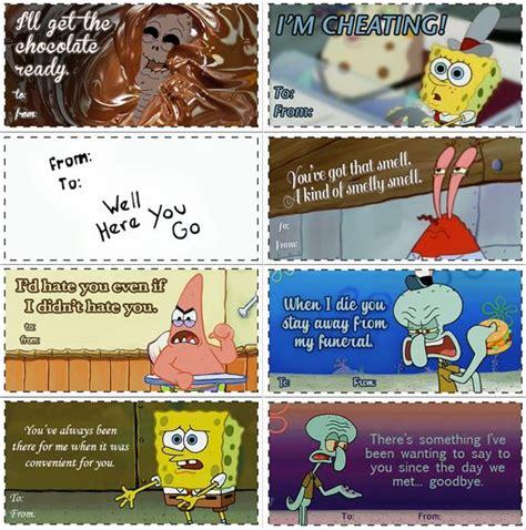 spongebob valentines spongebob valentines spongebob