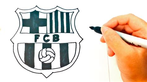 tutorial logo barcelona how to draw barcelona logo barcelona logo easy draw