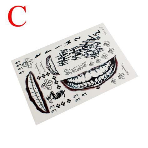 halloween temporary tattoos temporary sticker sheet waterproof