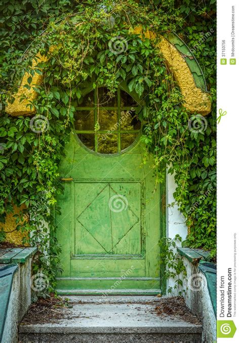 House Building Plans And Prices Fairytale Cottage Door Stock Photo Image Of Green