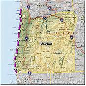 oregon coast highway map image gallery pch map