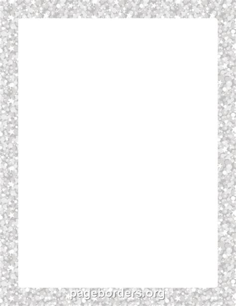 Wilton Ms Word Templates Silver Border Place Cards by Silver Glitter Border Photo Silver Glitter