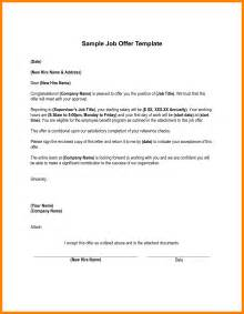 Offer Letter Format For Cus Recruitment 7 Employment Offer Letter Template Homed