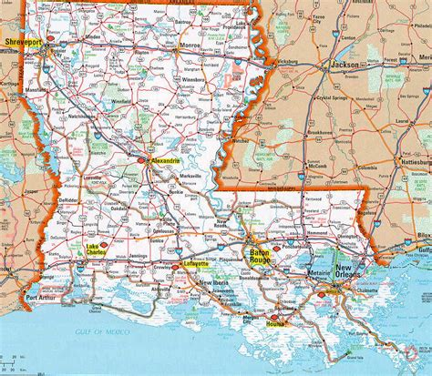 louisiana map hognews state pages louisiana