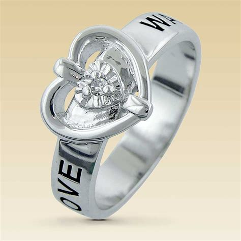 sterling silver purity ring