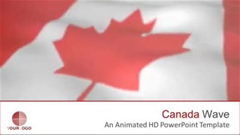 canada flag a powerpoint template from presentermedia com