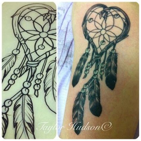 heart dreamcatcher tattoo like catcher cool