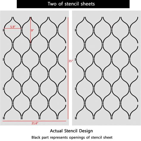 wall pattern sheets wall stencil lattice trellis quatrefoil pattern azure set