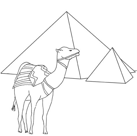 free coloring pages of the pyramid of khufu