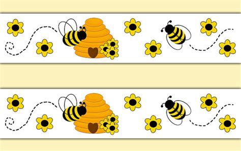 Bumble Bee Wall Stickers honey bumble bee wallpaper border decals wall art stickers
