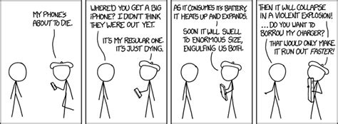 my is dying 1422 my phone is dying explain xkcd