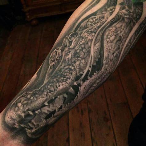 crocodile tattoo black and grey crocodile by jason stieva sinful