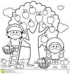 apple picking clipart black and white clipartsgram com
