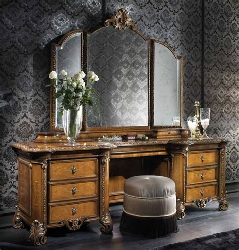 Vintage Bedroom Vanity Furniture Makeup Vanity Table With Mirror Designwalls