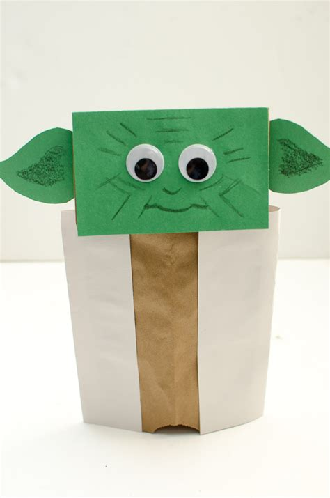 Puppet With Paper Bag - yoda paper bag puppet a grande