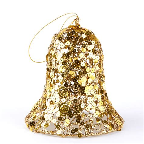 large gold christmas bells large gold sequined bell ornament and winter sale sales