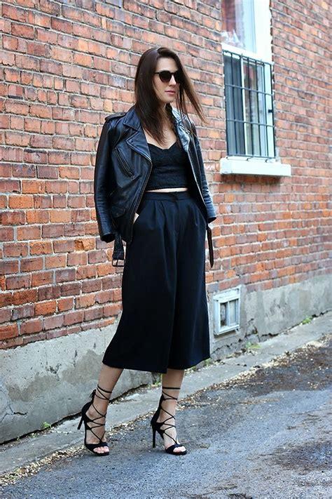 design lab leather jacket anik l r design lab culottes stuart weitzman lace up