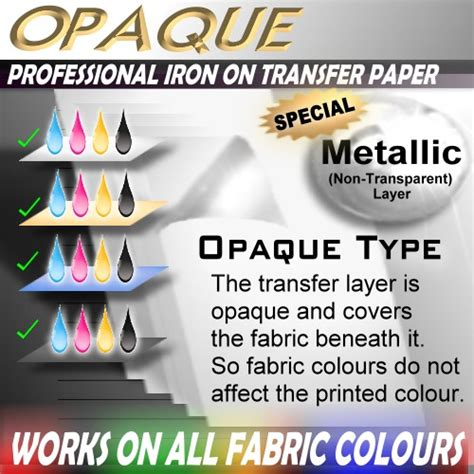 printable iron on paper om 6 sheets foil print inkjet iron on heat transfer blank
