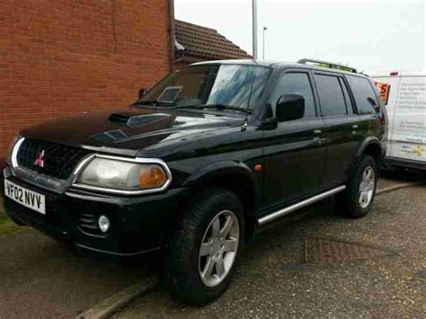 mitsubishi black cars mitsubishi 2002 shogun sport td black car for sale