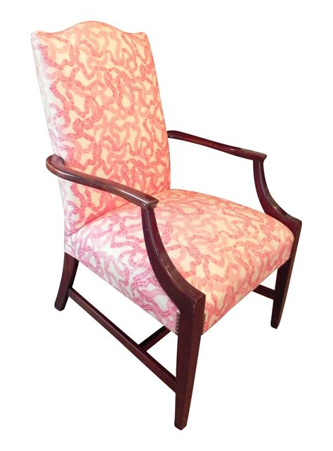 chintz armchair rose cummings ribbon chintz upholstered armchair chairish