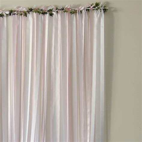 ribbon curtains ready to hang ribbon curtain backdrop baby pink by just