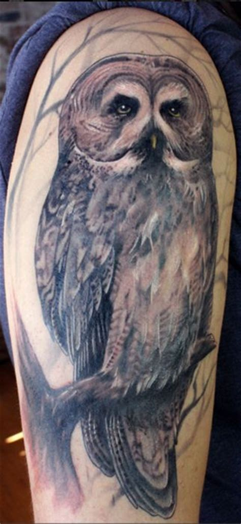 great grey pictures tattoos photos awesome realistic owl tattoo tattoo pinterest