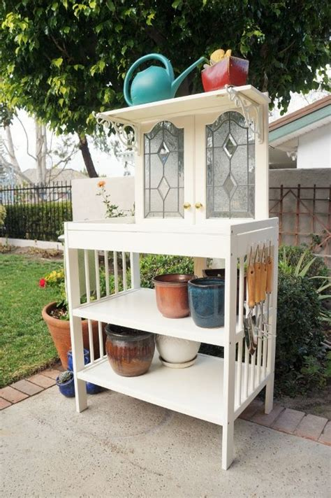 how to upcycle successful tips for changing old items repurposed changing table to potting bench made with