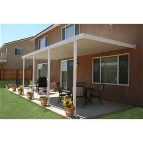 Patio Covers At Home Depot Four Seasons Building Products 22 Ft X 10 Ft White