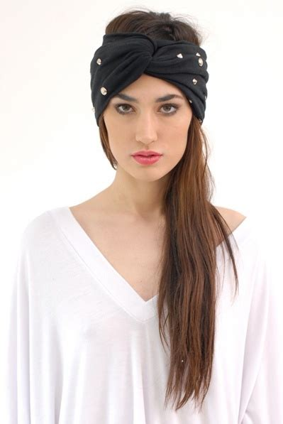 Whats With All The Turbans by Babooshka Oversize Stud Turban Soft Wide Style