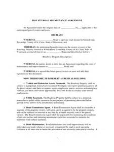 Private Lease Agreement Template Road Maintenance Agreement Form 6 Free Templates In Pdf