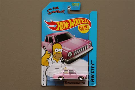 Wheels The Simpsons Pink wheels 2015 hw city the simpsons family car pink