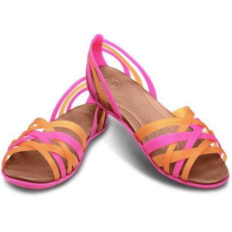 pink and blue sandals crocs huarache flat sandals black blue pink brown new